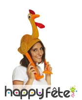 Chapeau en forme de poulet pour adulte