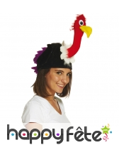 Chapeau en forme de vautour pour adulte