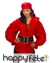 Chemise époque femme de pirate rouge, image 1