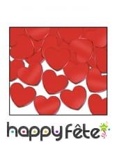 Confettis en forme de coeur rouge