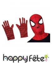 Cagoule et gants de Spider-Man pour enfant