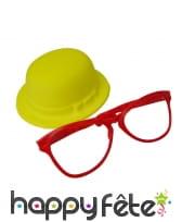 Chapeau et grandes lunettes de clown