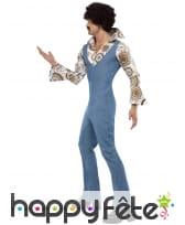 Combinaison en jean avec chemise 70's, image 2