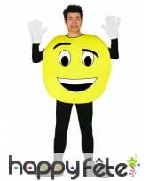 Costume émoticône jaune personnalisable