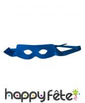 Cape et masque bleu de super héros pour adulte, image 3