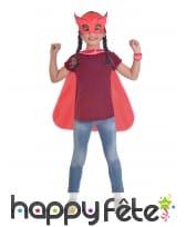 Cape et masque de Bibou Pyjamasques pour enfant