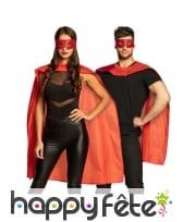 Cape et masque rouge de super héros pour adulte, image 1