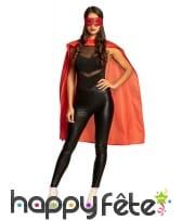 Cape et masque rouge de super héros pour adulte, image 2