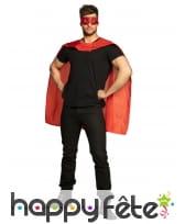 Cape et masque rouge de super héros pour adulte, image 3