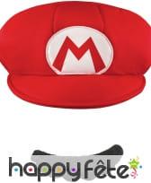 Casquette et Moustache de Mario pour homme