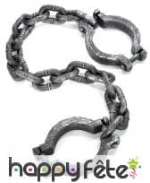 Chaine et menottes de prisonnier effet vieilli