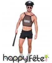 Costume en maille de policier hot
