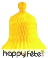 Cloche en papier alveolée jaune