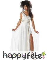 Coiffe et robe blanche Athénienne pour femme