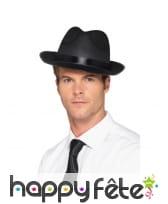 Chapeau fédora noir pour adulte