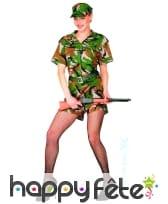 Costume femme soldat sexy