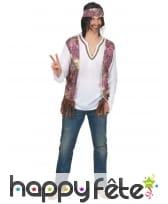 Costume gilet de hippie pour homme