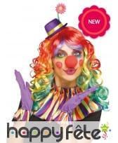Col, gants et chapeau de clown pour femme