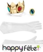 Couronne gants et médaillon de la Princesse Peach