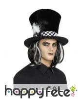 Chapeau gothique noir du chapelier fou