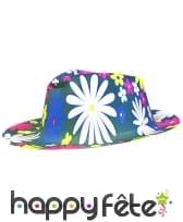 Chapeau gangster peace fleuri