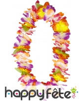 Collier hawaï avec 1 fleur d'hibiscus