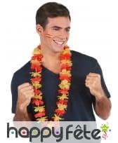 Collier hawaïen aux couleurs de l'Espagne, image 1