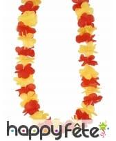 Collier hawaïen aux couleurs de l'Espagne