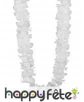 Collier hawaïen blanc uni