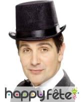 Chapeau haut de forme ruban noir