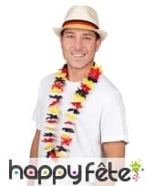 Collier Hawaï drapeau Allemand