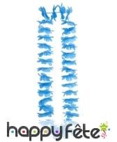 Collier Hawaïen de couleur bleu
