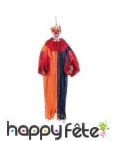 Clown horrible et lumineux à suspendre, 165cm