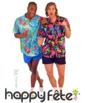 Chemise hawaïenne fleuries