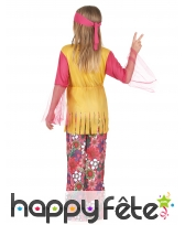 Costume hippie fleuri rose et jaune pour fillette, image 3