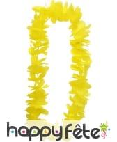 Collier hawaïen jaune