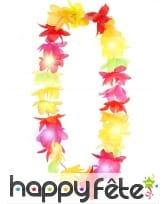 Collier hawaïen lumineux et multicolore, image 1