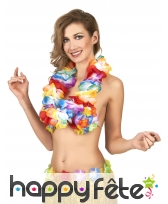 Collier Hawaïen multicolore de 84cm, image 1