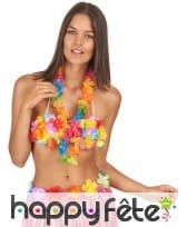 Collier Hawaïen multicolore en tissu, image 1
