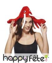 Chapeau homard pour adulte