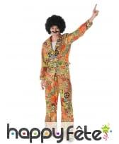 Costume hippie peace and love coloré pour homme