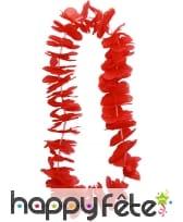 Collier hawaïen rouge