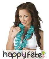 Collier Hawaïen turquoise uni