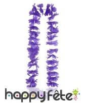 Collier Hawaïen violet, image 2