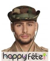 Chapeau imprimé camouflage pour adulte