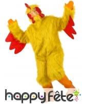 Costume intégral de poulet jaune pour adulte, image 1
