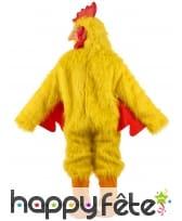 Costume intégral de poulet jaune pour adulte, image 2