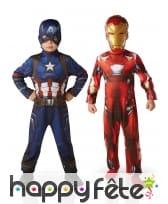 Costumes Iron Man et Captain America enfant