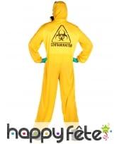 Combinaison jaune anti contamination pour adulte, image 1