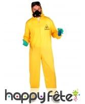 Combinaison jaune anti contamination pour adulte, image 2
